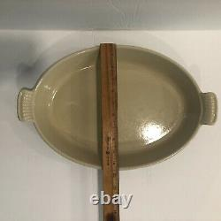 Le Creuset #36 Green Cast Iron Oval Roaster Baker Au Gratin
