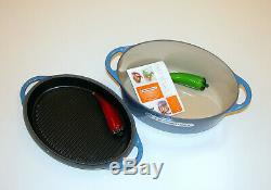 Le Creuset 4.2 L / 2.5 QT Multifunction Oval Oven with Reversible Grill Pan Lid
