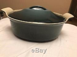 Le Creuset 4 Qt Oval Cast Iron Heritage Cocotte In Ocean