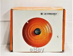 Le Creuset #40 Oval 15.5 qt Signature Casserole Oven Volcano Flame #861