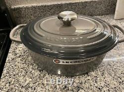 Le Creuset 5 QT Gray Oval Dutch Oven New Right out of the Box