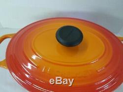 Le Creuset 5 Qt Oval Cast Iron Dutch Oven Flame Orange