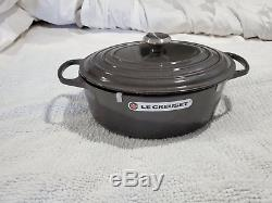 Le Creuset 6 3/4 Quart Oval French Cast iron Dutch Oven NEW Midnight Gray