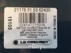 Le Creuset 6.75 Qt Oval Signature French (Dutch) Oven Marine NIB
