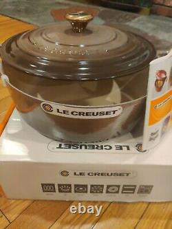 Le Creuset 6.75 qt 6 3/4 French Dutch Oven Terre naturel truffle New In Box Oval