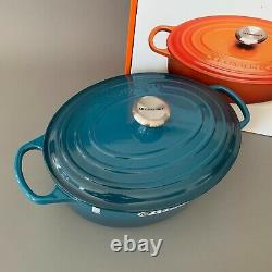 Le Creuset 6.75 qt 6 3/4 French (Dutch) Oven in DEEP TEAL RARE- New In Box! Oval
