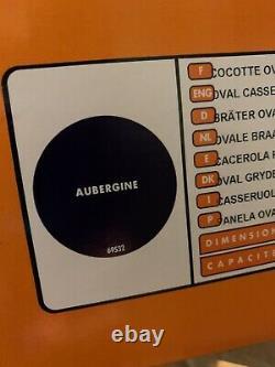 Le Creuset 6.75 qt 6 3/4 Oval SIGNATURE Dutch Oven Aubergine Purple NIB