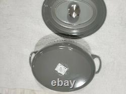 Le Creuset 6.75QT Oval Dutch Oven Cast Iron French Gray