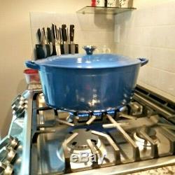 Le Creuset 8 Qt Cast Iron Oval Dutch Oven #33, Harmonic Blue, Lifetime Enameled