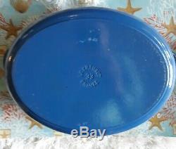 Le Creuset 8 Quart Oval Signature French Dutch Oven, Marine Blue