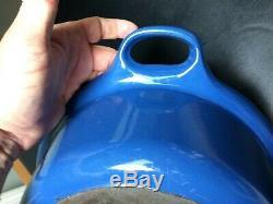 Le Creuset Blue Enamel Cast Iron Oval Roaster withLid No. 43