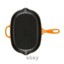 Le Creuset Cast 12.5-Inch Iron Oval Grillit (Orange)