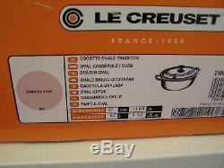 Le Creuset Cast Iron Oval Cocotte, 4.5 Qts, Chiffon Pink, France, NIB