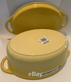 Le Creuset Cast Iron Signature Oval Dutch Oven 7.25 YellowithSoliel