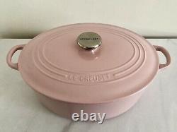 Le Creuset Classic Cast Iron 31cm Oval Casserole, Chiffon Pink