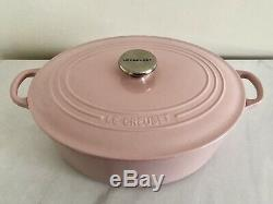 Le Creuset Classic Cast Iron 31cm Oval Casserole Chiffon Pink