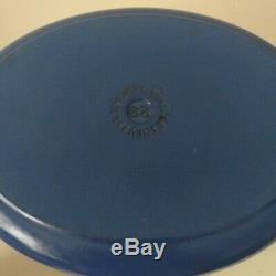 Le Creuset Cobalt Blue Cast Iron Oval Casserole 29 cm Excellent Condition