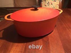 Le Creuset Cousances #20 Dutch Oven Red Orange