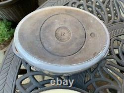 Le Creuset Cousances Vintage Cast Iron Grey Belle Époque Flower Oval 12 Rare