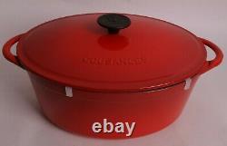 Le Creuset Cousances by Le Creuset Cast Iron 6 quart oval dutch oven chili red