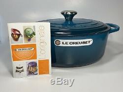 Le Creuset Deep Teal 5.5 Qt Cast Iron Oval Dutch Oven NIB