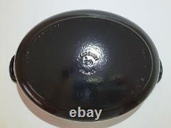 Le Creuset Dutch Oven #29 SHINY BLACK ONYX NEW OLD STOCK NO BOX 5 Qt Roaster