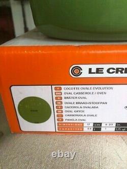 Le Creuset Dutch Oven Oval Cast Iron 1qt 17cm Green Palm