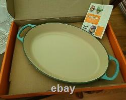 Le Creuset Enameled Cast Iron 3 Quart Oval Baker Baking Dish 14 CARIBBEAN TEAL