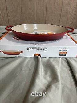 Le Creuset Enameled Cast Iron 3 qt Oval Baker Baking Dish 14 CERISE CHERRY RED