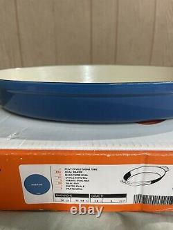 Le Creuset Enameled Cast Iron 3 qt Oval Baker Baking Dish 14 MARSEILLE BLUE