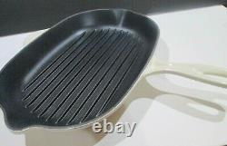 Le Creuset Enameled Cast Iron Dune Oval Non-stick Grill Skillet 12.5