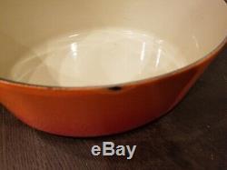 Le Creuset Enameled Cast Iron Oval Volcanic Flame Red/orange Oven Pot 6 3/4qt 31