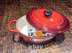 Le Creuset Enameled Cast Iron Signature Oval Dutch Oven, 3.5 qt, Cerise