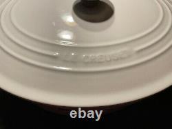Le Creuset Enameled Cast Iron Signature Oval Dutch Oven 9 3/4-10 Quart White #35