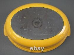 Le Creuset France #26 Warm Honey Yellow Enamel Oval Cast Iron Covered Casserole