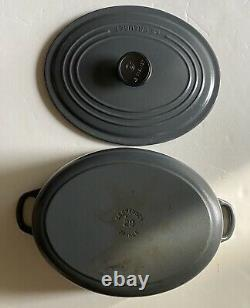 Le Creuset Gray Oval Dutch Oven 29 France Cast Iron Pot Pan RARE 5qt Five Quart