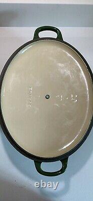Le Creuset Green Oval Casserole Saucepan 29cm 29 Large Cast Iron
