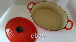 Le Creuset No 25 3.5 Qt Signature Oval Dutch Oven Red