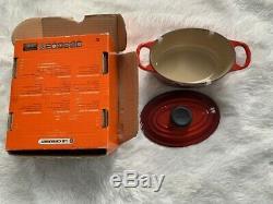 Le Creuset Oval Casserole Oven Cast Iron 1Qt/0.9L(New Open Box) Cerise/Cherry