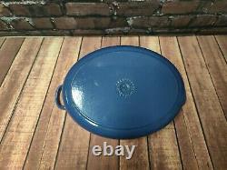 Le Creuset Oval Cast Iron Large Casserole Dish Marseille Blue 29cm