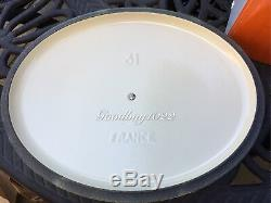 Le Creuset Oval Cast Iron Matte Yellow Mimosa 6.75 Qt 31 New Beautiful
