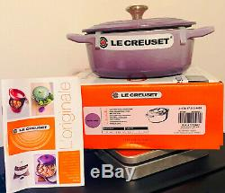 Le Creuset Oval Dutch Oven 1 Qt Blue Bell Purple NIB