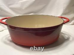 Le Creuset Oval Dutch Oven 4.75qt with Grill in Cerise Red NEW IN BOX
