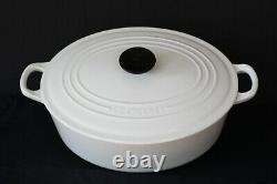 Le Creuset Oval Enameled Cast Iron Dutch Oven White 30cm 12 x 9 1/4