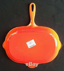 Le Creuset Oval Skillet Grill 12.75 Flame