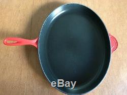 Le Creuset Oval Skillet Grill Cherry Red-Cerise Red- Extra Large Size