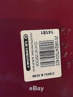 Le Creuset RARE 3.5 QT BURGUNDY Sauteuse Enameled Cast Iron Dutch Oven NEW Red