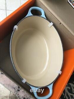 Le Creuset RARE Sky Blue 2.75qt Oval Dutch Oven Cast Iron