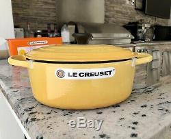 Le Creuset Rare HONEY Signature 3.5qt Oval Cast Iron Dutch Oven Casserole! New