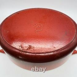 Le Creuset Red Enameled Cast Iron Signature Oval Dutch Oven NO 35 9.5 Qt